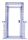 Piano hinge door style