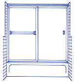 Two Panel Sliding Enclosure Shower Example