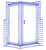 90 Degree Corner Shower example