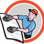 Icon of man replacing car windshield